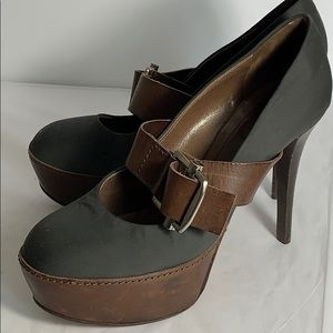 Marni Fabric & Leather Platform Heels (39)